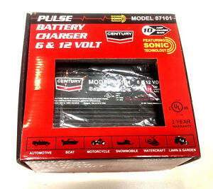 Century 87101 10 Amp Pulse Battery Charger 6 12 Volt