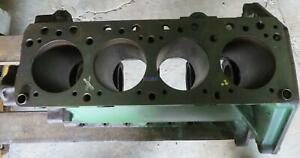 John Deere Jd 4 145 Engine Block Good Used T1129t Rare Vintage 4 Cyl Diesel