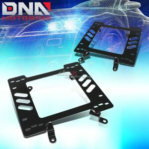 Performance Racing Seat Mount Brackets Steel Adapter For 79 98 Ford Pony Mustang