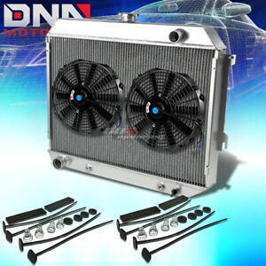 68 73 Plymouth Satellite Gtx V8 3 Row Core Full Aluminum Racing Radiator X2 Fan