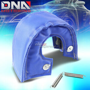 T3 T25 T28 Turbo Charger Turbocharger Exhaust Blue Heat Shield Blanket Cover