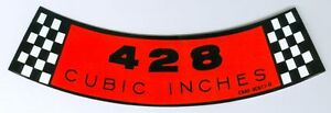 1968 1969 Mustang Torino 428 Air Cleaner Decal