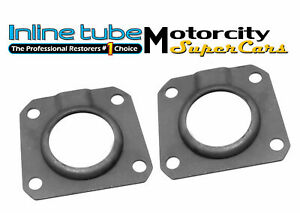 64 69 442 Gs Gto Judge Rear Axle Bearing Seal Retainers Axle Shaft Drum Plate