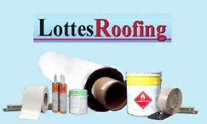 White Epdm Rubber Roofing Kit Complete 2 600 Sq ft