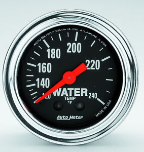 Auto Meter Products 2433 Traditional Gauge Water Temperature