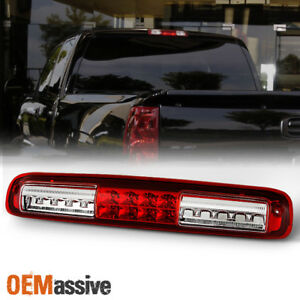 Fit 99 06 Chevy Silverado Gmc Sierra Led 3rd Brake Tail Light Signal Lamp Red