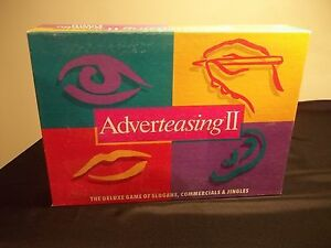 Adverteasing II Deluxe board Game of Slogans Commercials & Jingles used complete $12.95