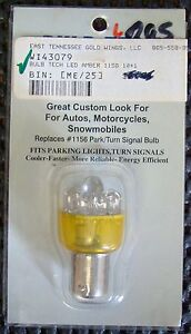 Bulb Tech Wi43079 Bright Amber Led Bulb Replaces 1156 Park Turn Signals Nos