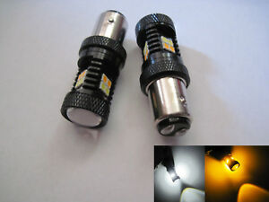 2 X 1157 Samsung Led High Power Smd White Yellow Switchback Type 2