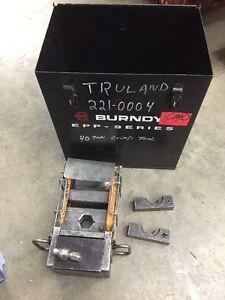 Thomas Betts 21940 40 Ton Hydraulic Crimp Tool 11418 Dies Burndy Case More