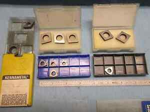 12pc Lot Of Misc Carbide Insert Seats Kennametal Smrn Others Industrial Tools