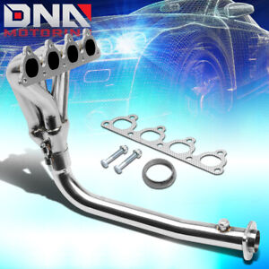 Stainless 4 1 Header For Civic Crx Del Sol D Series 4cyl Sohc Exhaust Manifold