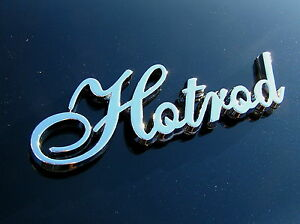 Hotrod Car Emblem Metal Badge High Quality Suits Chev Rat Hot Rod