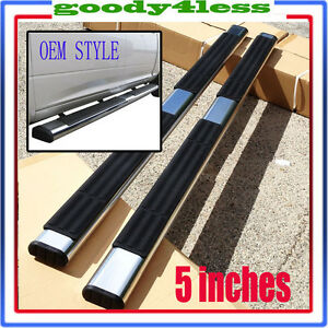 For 02 08 Dodge Ram Quad Cab Running Board 5 Oval Nerf Bars Side Step Oe Style