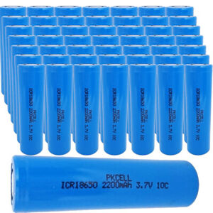 Wholesale Lot 100pcs 18650 Rechargeable Batteries For Led Tactical Light Torch