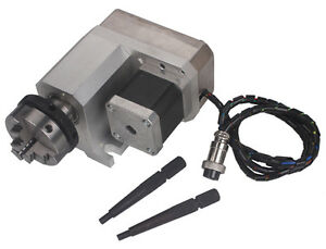Cnc Router Rotational Rotary Axis 50f Style A axis 4th axis 3 jaw Scroll Chuck