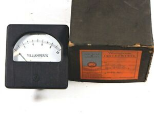 Westinghouse Milliampere Rx 35 Ma 0 10 Ma Amp Gauge New In Box Vintage