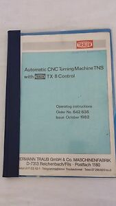 Automatic Cnc Turning Machine With Traub Tx8 Control Operating Instructions