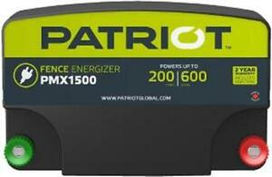 Patriot Pmx1500 Electric Fence Charger Energizer 13 Joule 200mile 600acre 110v