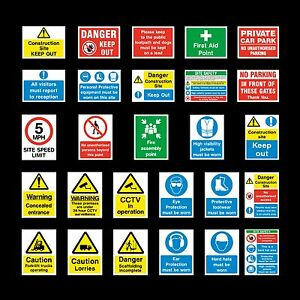Construction Site Signs Sticker Or 6mm Correx Sign Site Safety Building