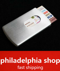 Stainless Steel Wallet Business Name Credit Id Card Holder Case New 355