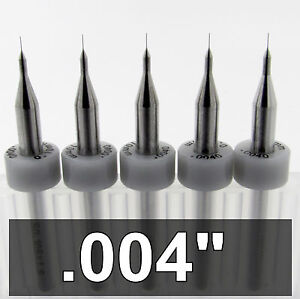 0 10mm 004 Carbide Drill Bits Five Pieces 1 8 Shanks Cnc Model Pcb R s