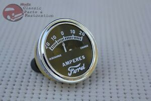 Model A Instrument Panel Amp Meter Guage Dial Ford Script Logo 20 0 20 Hotrod