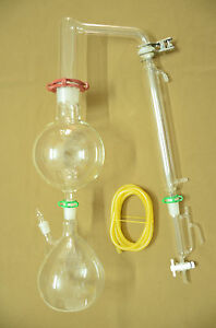 Essential Oil Steam Distillation Kit liebig Condenser come With All The Clamps
