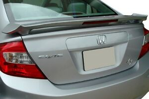 505 Primered Honda Civic 4dr Factory Style Spoiler 2012 2013 2014 2015