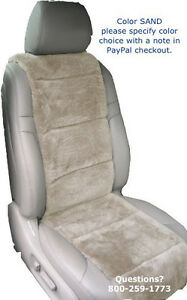 Sheepskin Seat Covers 1 Plush Vest Insert Finest Quality Australian 4 Colors