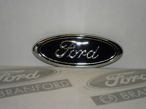 New Oem Ford Oval Front Grill 7 Blue Emblem Decal Name Plate E7tz 8213 bb