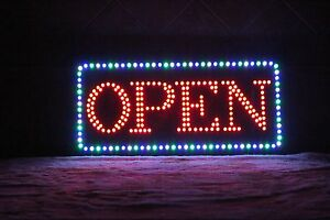 Flashing Led Open Sign super Bright Size Of 24 x12