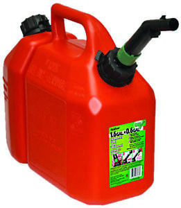 Scepter 5088 Gas Can 1 5 Gal 11 In H Self venting Plastic Red