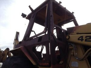 Cat 426 Loader Backhoe Cab Shell Less Doors Fire Damage