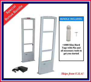 Combo d 1000 Slim Tags Eas Rf Retail Anti Theft Security Antenna System tool