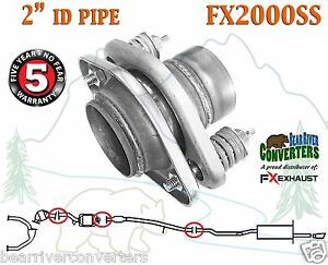 Fx2000ss 2 Id Stainless Steel Universal Exhaust Spring Bolt Flange Repair Pipe