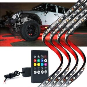 Xprite Rgb Led 8 Color Car Remote Control Underglow Underbody System Lights Kit