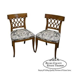 Quality Italian Made Pair Of Biedermeier Style Side Chairs