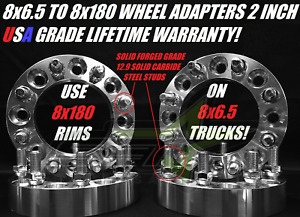 4 Chevy Wheel Adapters Use New 8x180 Wheels On 8x6 5 Trucks 2 Inch Thick 50mm