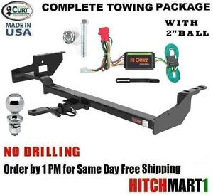 Fits 1998 2008 Subaru Forester Class 2 Curt Trailer Hitch Package W 2 Ball