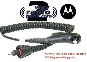 Real Motorola Apx7000 Apx6000 Xe Remote Speaker Mic Xtreme Hightemp Cable Cord