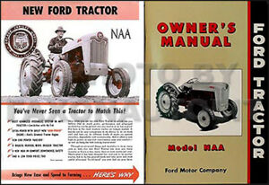 1953 1954 1955 Ford Naa Brochure And Owner Manual Set Includes 53 Golden Jubilee