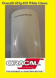 24 X 10 Yards 30 Feet roll White Glossy Oracal 651 Vinyl Adhesive Sign 010