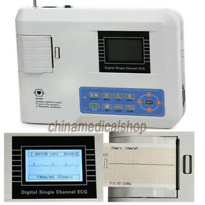 Fda Digital Single Channel 12 Leads Portable Ecg ekg Machine Electrocardiograph