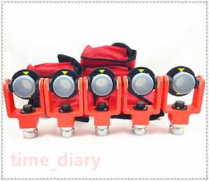 5pcs Mini Prism Brand New For Topcon Sokkia Pentax Total Station Offset 0 30mm
