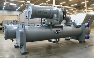 2003 450 Ton Carrier 19xr Water cooled Chiller 2400 Volts R 134a Centrifugal