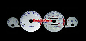 Face Silver Reverse Glow Red Blue For Acura Integra 94 01 Manual Transmission