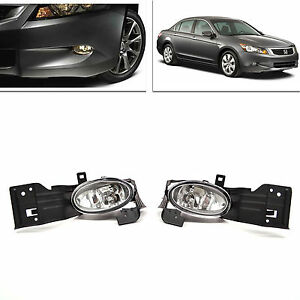 Fog Driving Lights Lamp Set Pair W Switch Harness For Honda Accord 2008 2010 2dr