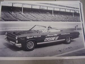 1966 Mercury Comet Cyclone Gt Indy 500 Pace Car 12 X 18 Large Picture Photo