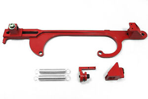 Red Aluminum Throttle Cable Bracket Return Springs Holley Aed Quick Fuel 4150